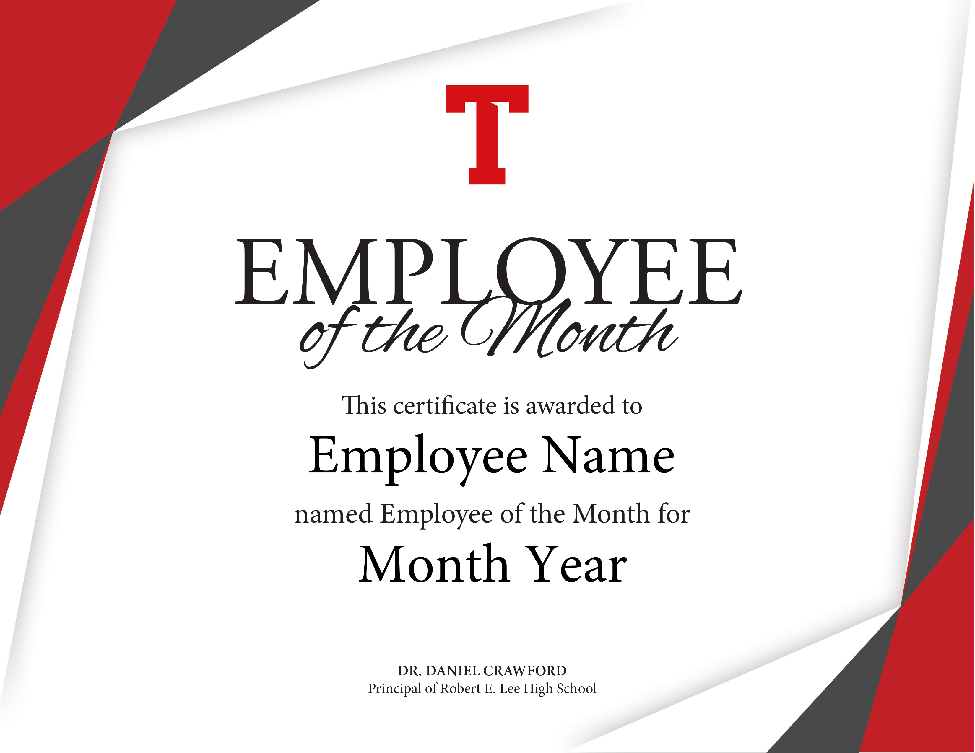 employee of the month certificate template - tyler lee employee of the month certificate